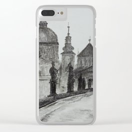 Prague, vintage foto, Charles Bridge, Architecture, Europe Clear iPhone Case