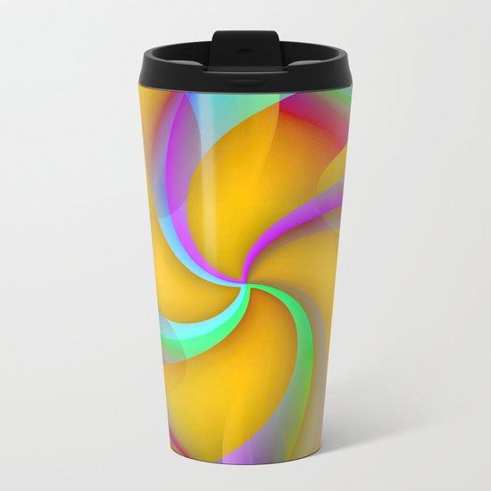 Pinwheel Metal Travel Mug