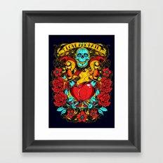Daggers of love Framed Art Print