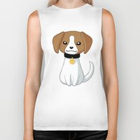 beagle Biker Tanks featuring Beagle by Freeminds