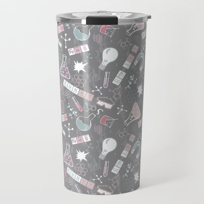 Chemistry on Gray Travel Mug