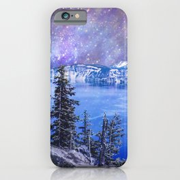 Crater Lake Starry Night iPhone Case