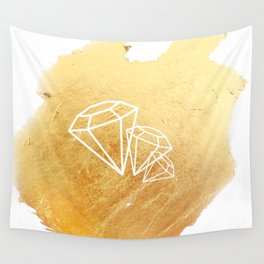 Faceted Gold Wall Tapestry