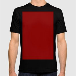 Dark red T-shirt