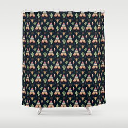 teepee tent Shower Curtain