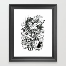 Music is Beauty Crumbling - ANALOG zine Framed Art Print