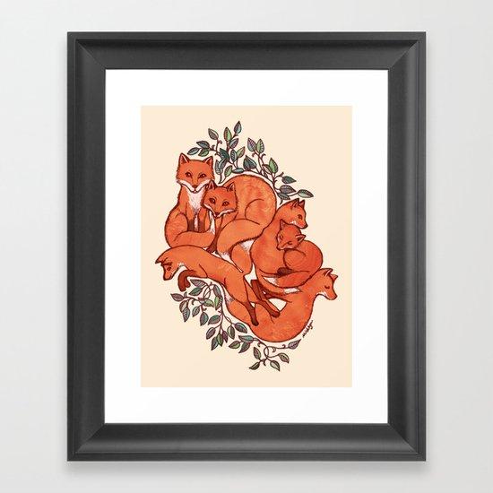 Fox Tangle Framed Art Print