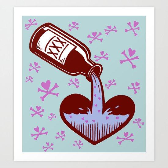 Drunkenheart Art Print