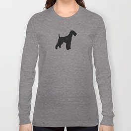 Airedale Terrier Silhouette(s) Long Sleeve T-shirt