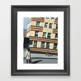 West Village print of an original oil painting Framed Art Print