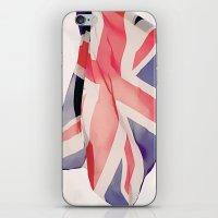 british flag iPhone & iPod Skins featuring British Flag by Rachael Jane