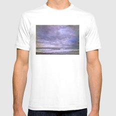 Rain storm at the sea Mens Fitted Tee White MEDIUM