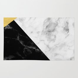 Marble & Gold Collage Rug