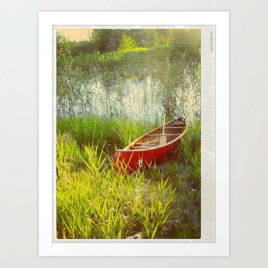 Little Red Canoe Art Print