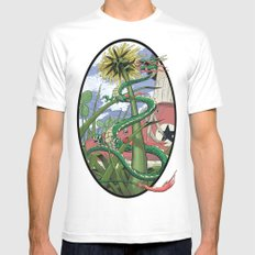 Dragons Unseen  Mens Fitted Tee MEDIUM White