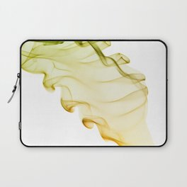 Yellow green twisted smoke abstracts Laptop Sleeve