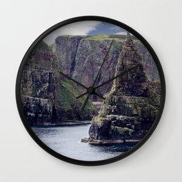 Sea Stacks at Duncansby Head Wall Clock