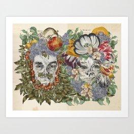 Mars and Venus - Botanical Love Art Print