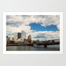 Hearts Over Pittsburgh Art Print