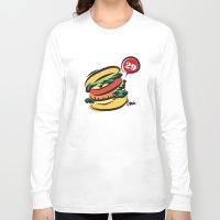 hamburger Long Sleeve T-shirts featuring Hamburger by skyboysv