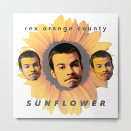 Rex Orange County Sunflower Metal Print