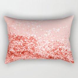 Sparkling Living Coral Lady Glitter #2 #shiny #decor #art #society6 Rectangular Pillow