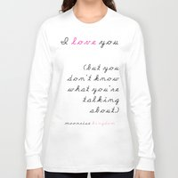 wes anderson Long Sleeve T-shirts featuring Moonrise Kingdom Wes Anderson Movie Quote by FountainheadLtd
