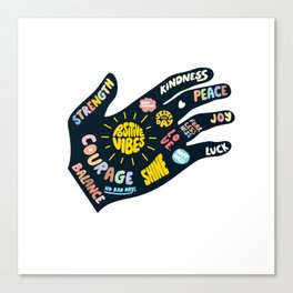 Positivity – Helping Hand Canvas Print