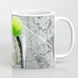 Modern tennis ball and racket 7 Coffee Mug