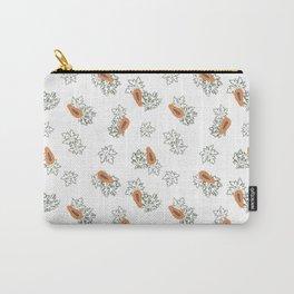 Pretty Papaya Carry-All Pouch