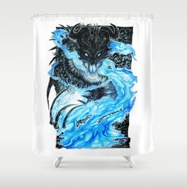 The Necromancer Shower Curtain