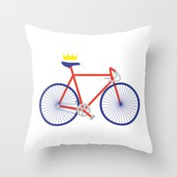 bike Throw Pillows featuring Bike by Keep It Simple