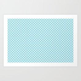 Pastel Blue Heart Pattern Art Print