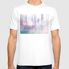 This World We Found MEDIUM Mens Fitted Tee White