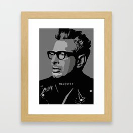 MAJESTIC GOLDBLUM Framed Art Print
