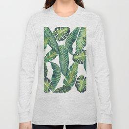 Jungle Leaves, Banana, Monstera II #society6 Long Sleeve T-shirt