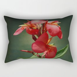 Canna Lily and Hourglass Tree Frog Rectangular Pillow