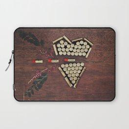 Bullet through the heart Laptop Sleeve