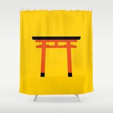 Torii (鳥居) (eastern portal) Shower Curtain
