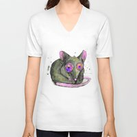 rat V-neck T-shirts featuring Rat by Bwiselizzy
