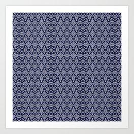 Japanese Yukata Jinbei Asanoha Navy blue Art Print