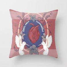 little miss surrealst Throw Pillow