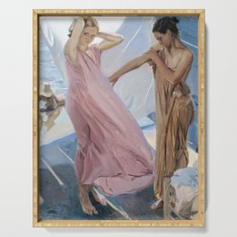 After Bathing, Valencia by Joaquin Sorolla Serving Tray