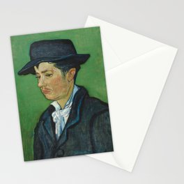 Portrait of Armand Roulin by Vincent van Gogh Stationery Cards