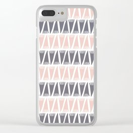 Tee Pee Pale Dogwood Clear iPhone Case