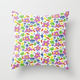 Flowers for Matisse Throw Pillow