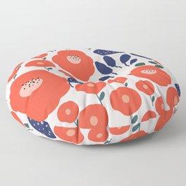 Beautiful Poppies Floor Pillow