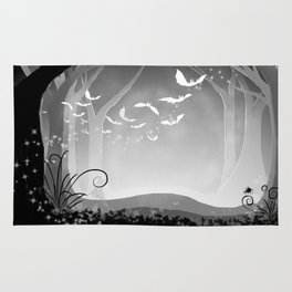 Dark Forest at Dawn Rug
