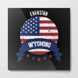 Evanston Wyoming Metal Print