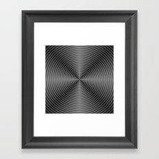 Spiral Quartered in Monochrome Framed Art Print
